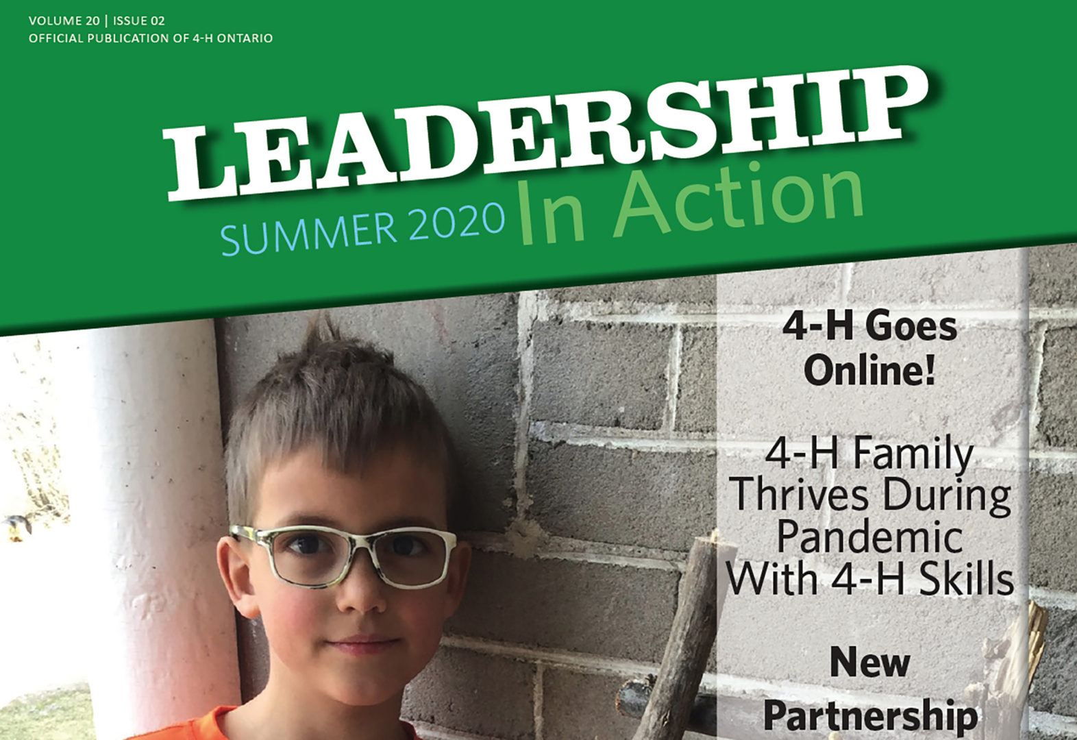 Front Cover of the Leadership In Action magazine