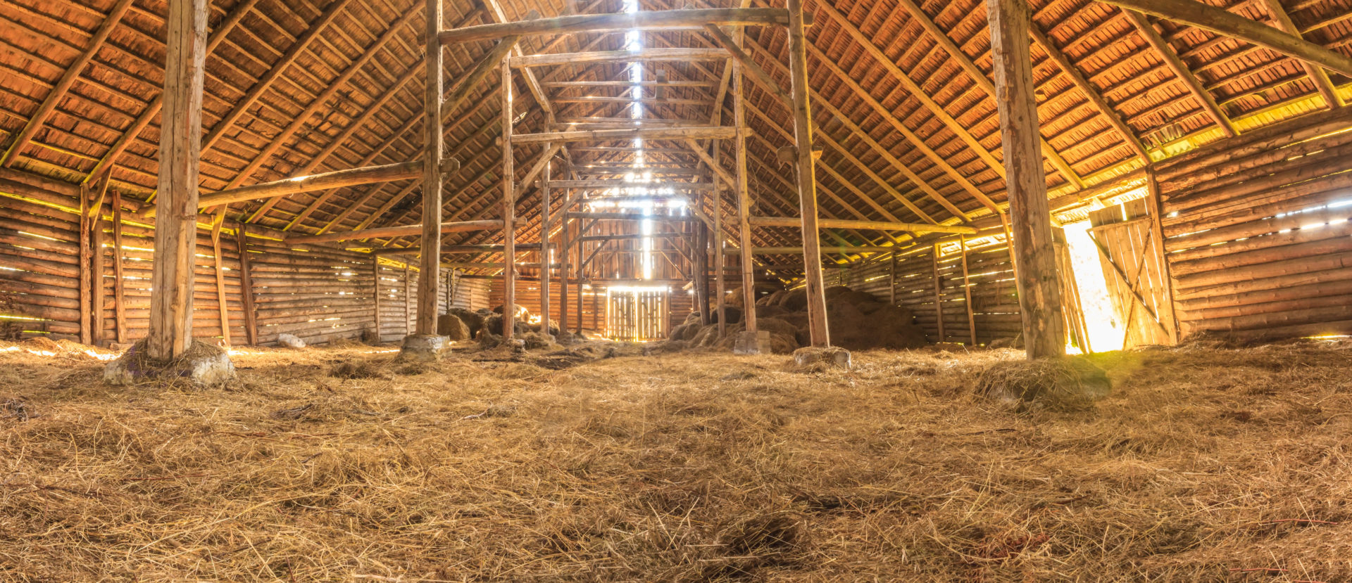 Empty hay loft in old barn