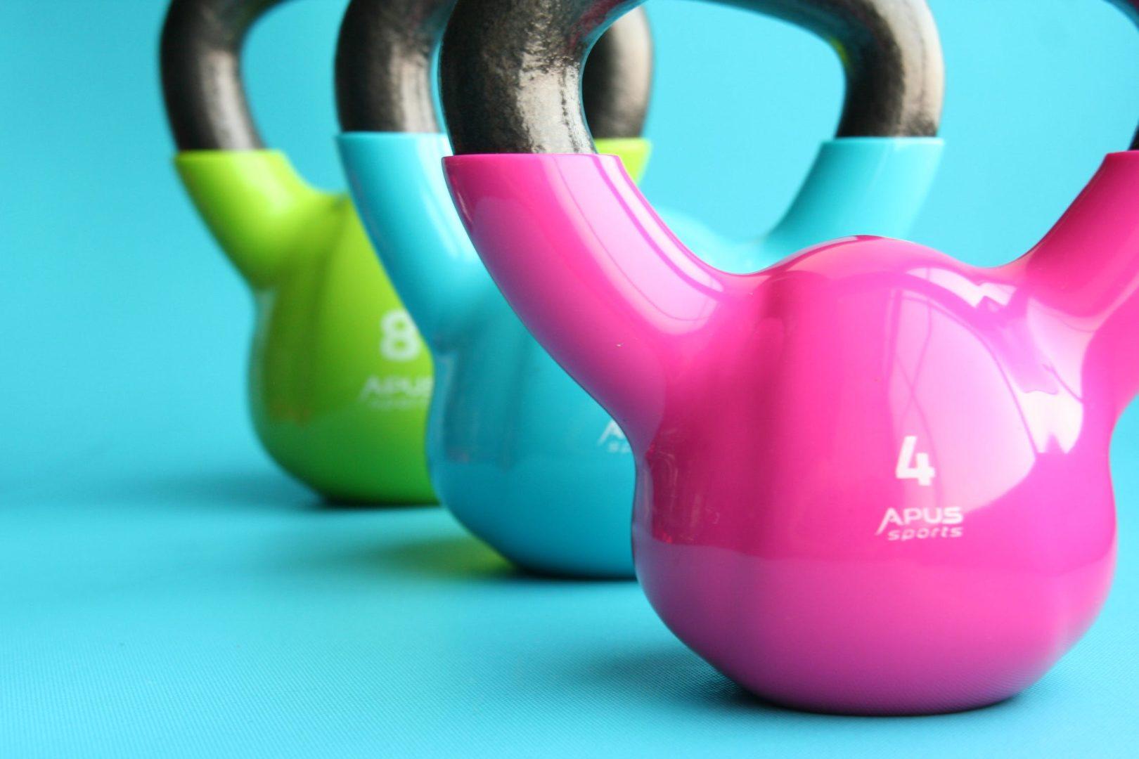 Assorted kettle ball weights