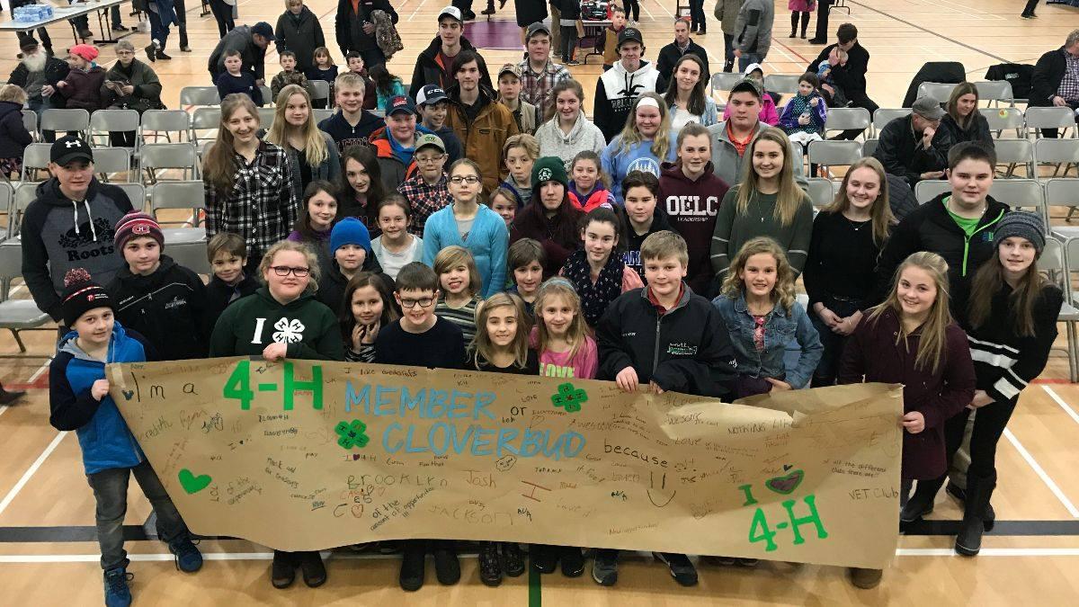 C-K 4-H Members at Rally Night