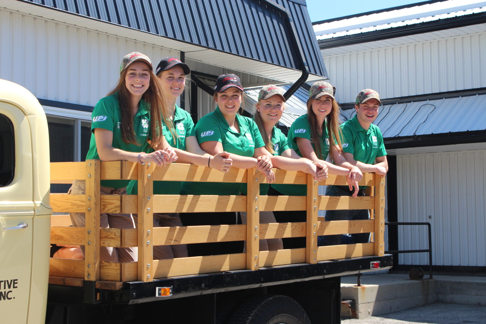 Youth Ambassadors on Back of Truck