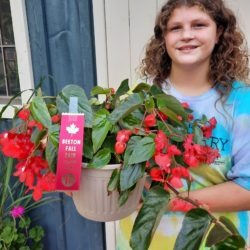Mamber with first prize potted plant