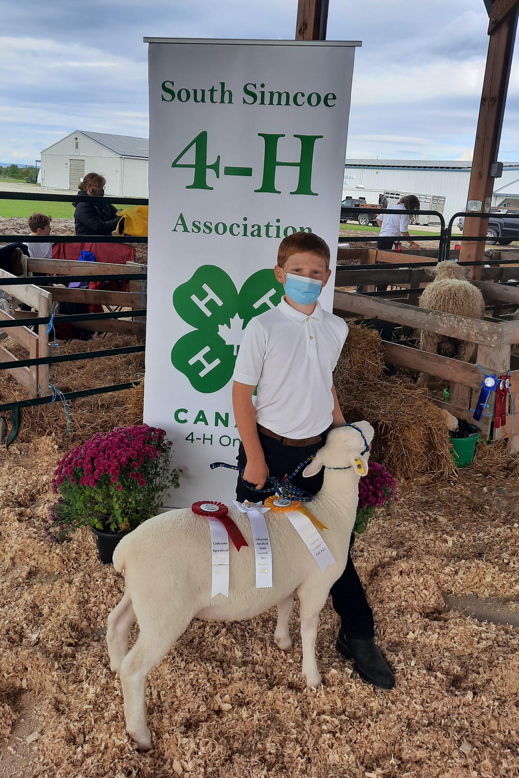 Member with his ewe lamb