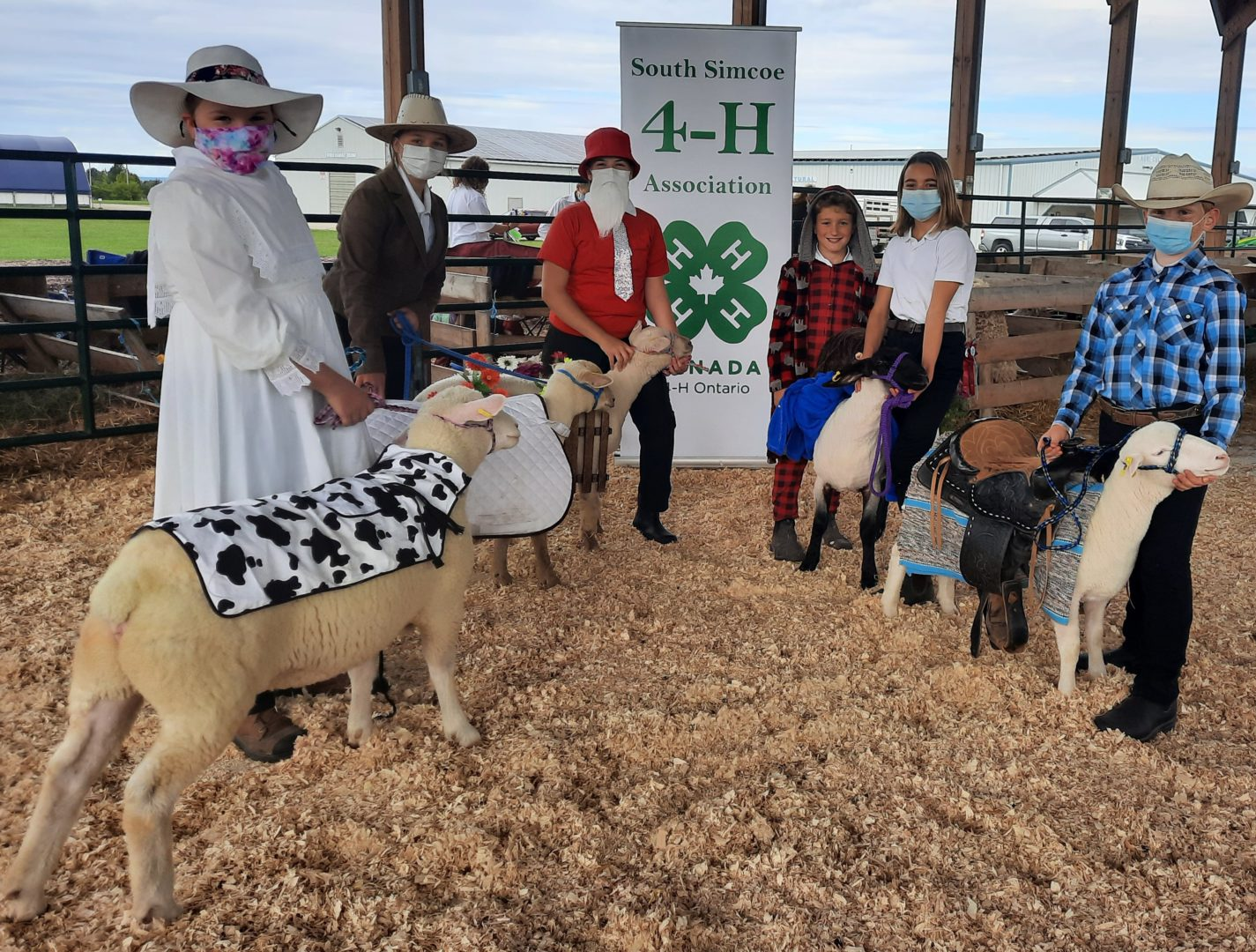 Members and lambs dressed up at achievement day in Collingwood.