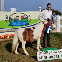 Member with her mini horse