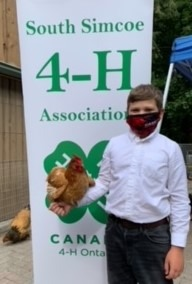 Member with his one eyed chicken