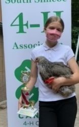 Member with her 4-H pullet
