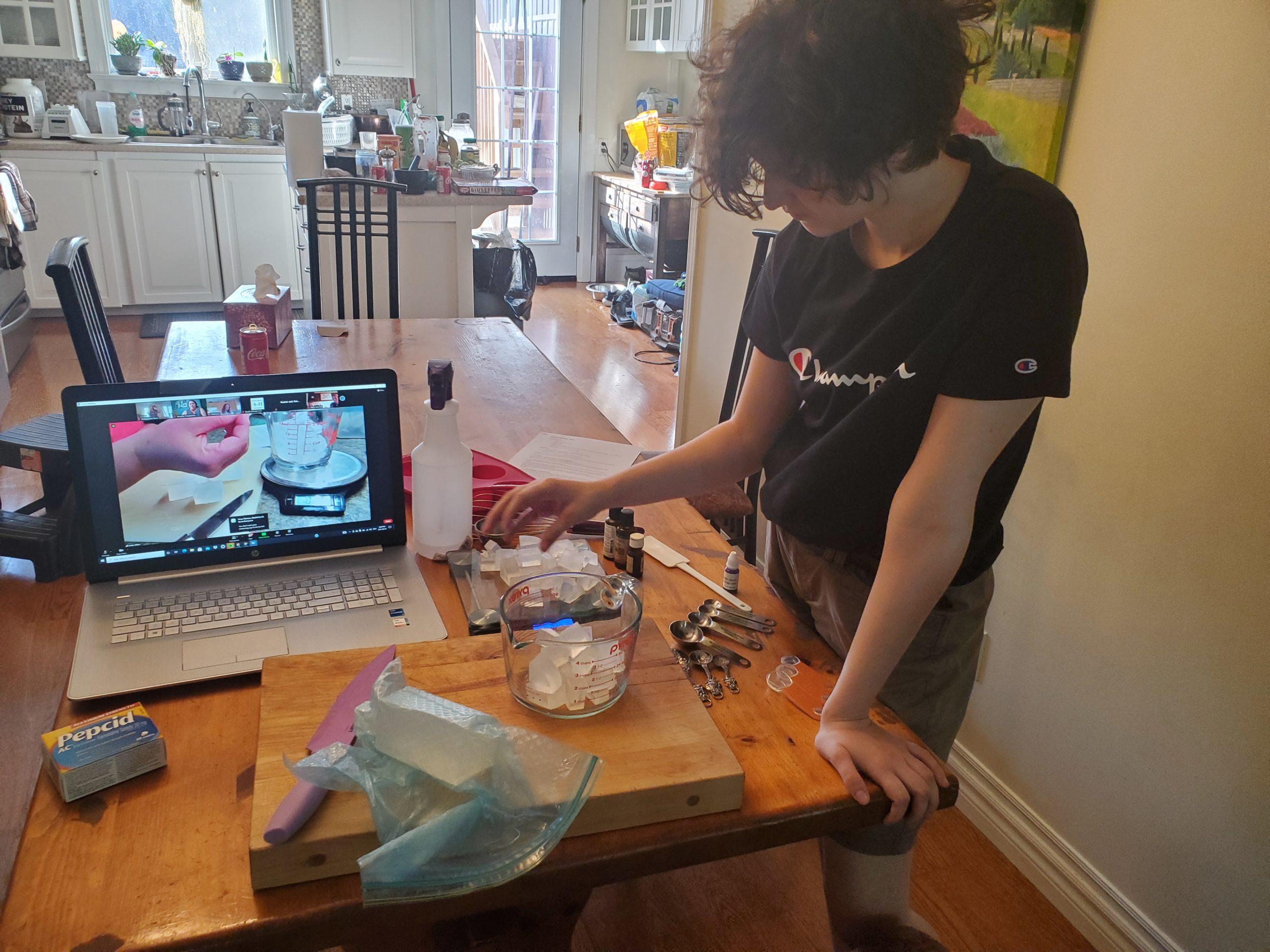 Member making soap