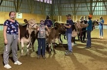 Members and calves at their first in person meeting