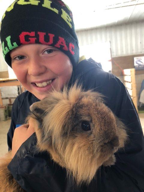 4-H member and 4-H rabbit Tigger.